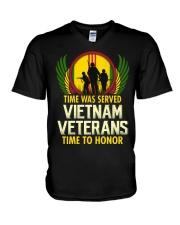 Time To Honor V-Neck T-Shirt thumbnail