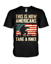 Americans Take A Knee V-Neck T-Shirt thumbnail