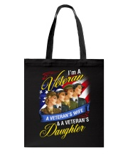 Female Veteran Tote Bag tile