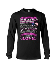 Loving A Military Man Long Sleeve Tee thumbnail