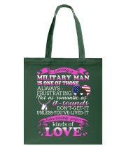 Loving A Military Man Tote Bag thumbnail