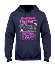 Loving A Military Man Hooded Sweatshirt thumbnail