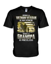 Being A Vietnam Veteran Grandpa Is Priceless V-Neck T-Shirt thumbnail