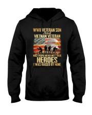 WWII Veteran Son And Vietnam Veteran Hooded Sweatshirt thumbnail