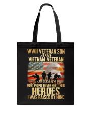 WWII Veteran Son And Vietnam Veteran Tote Bag thumbnail