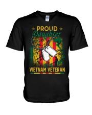 Vietnam Vet Proud Daughter V-Neck T-Shirt thumbnail