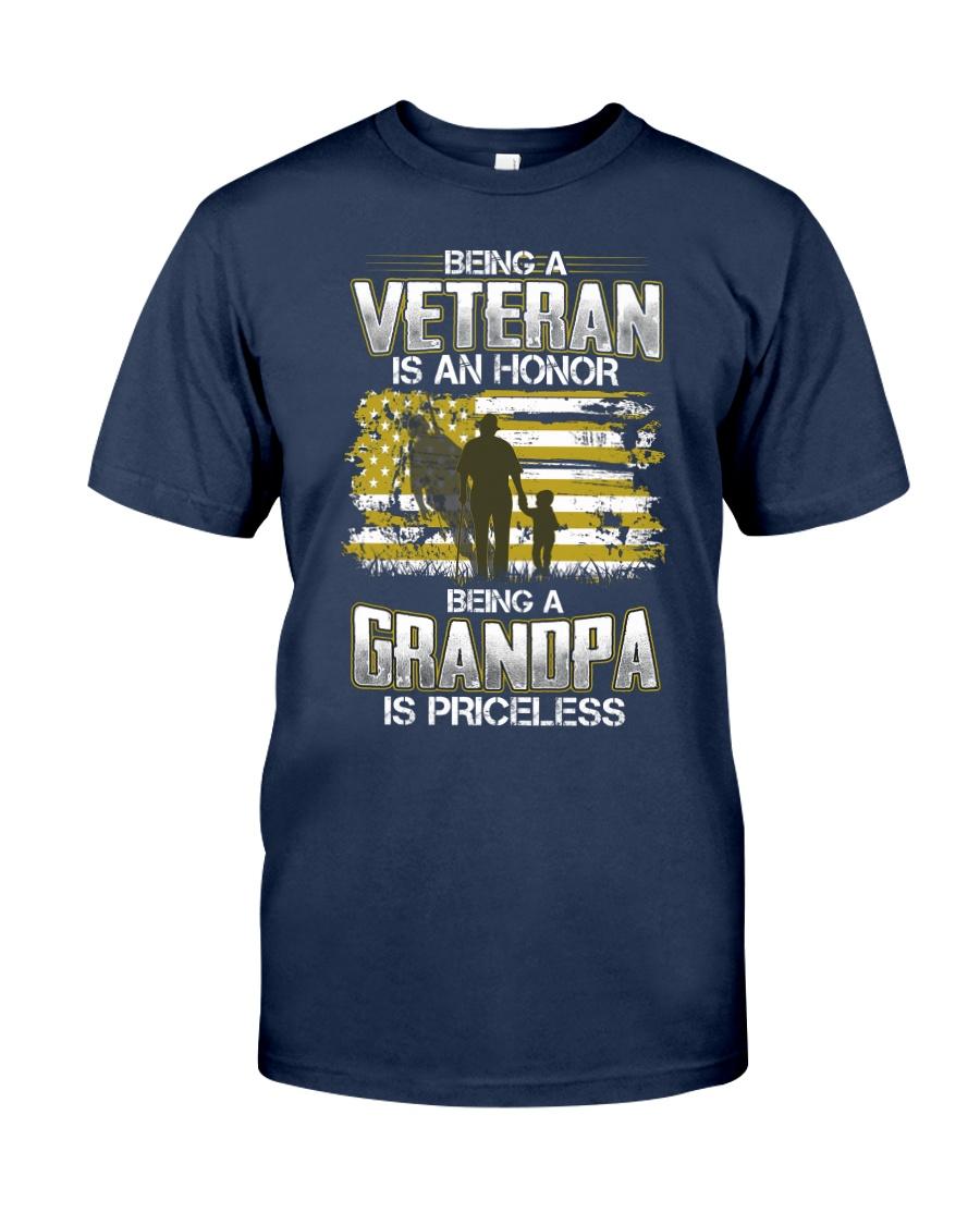 Being A Veteran Grandpa Is Priceless Classic T-Shirt