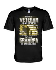 Being A Veteran Grandpa Is Priceless V-Neck T-Shirt thumbnail