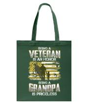 Being A Veteran Grandpa Is Priceless Tote Bag thumbnail