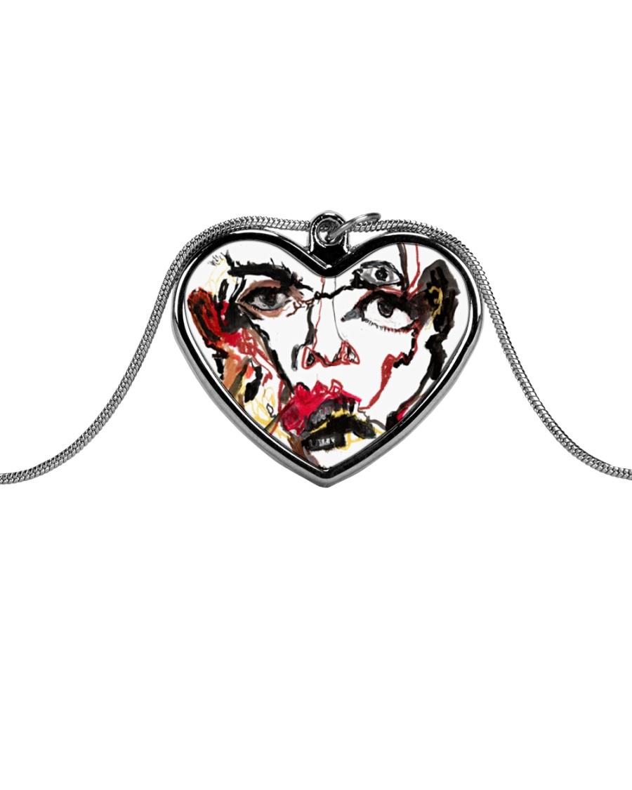 Karina Padilla Metallic Heart Necklace