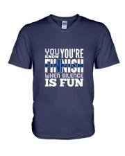 Finnish Fun V-Neck T-Shirt thumbnail