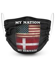 Danish Nation Heritage 2 Layer Face Mask - Single thumbnail