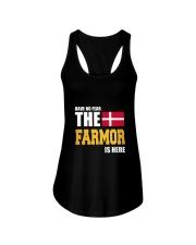 Danish Farmor Is Here Ladies Flowy Tank thumbnail
