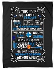 "Finland Flag Small Fleece Blanket - 30"" x 40"" thumbnail"