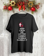 Danish Woman Handle Classic T-Shirt lifestyle-holiday-crewneck-front-2