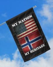 "Norwegian Nation Heritage 11.5""x17.5"" Garden Flag aos-garden-flag-11-5-x-17-5-lifestyle-front-16"