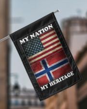 "Norwegian Nation Heritage 11.5""x17.5"" Garden Flag aos-garden-flag-11-5-x-17-5-lifestyle-front-17"