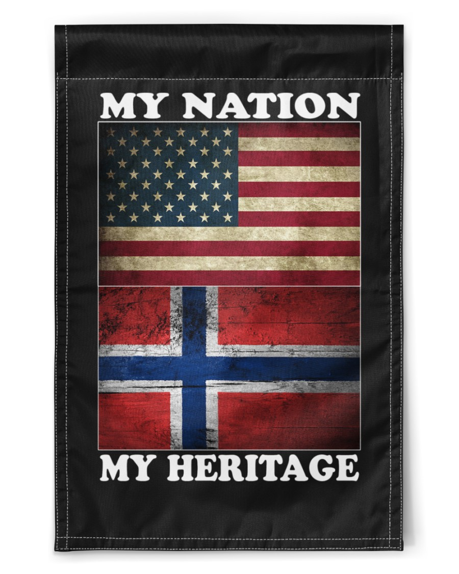 "Norwegian Nation Heritage 11.5""x17.5"" Garden Flag"