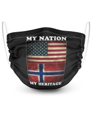 Norwegian Nation Heritage 2 Layer Face Mask - Single thumbnail