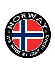 Norwegian Story Circle Coaster thumbnail
