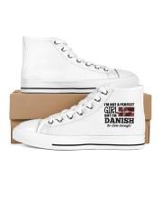 Denmark Copenhagen Women's High Top White Shoes inside-left-outside-left