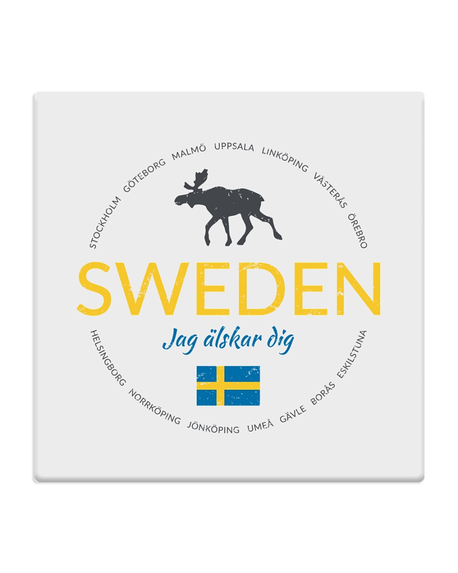 Swedish Town Square Coaster