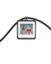 Finnish Christmas 2 Cord Rectangle Necklace thumbnail
