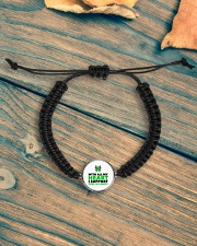Cerebral Palsy Heart Cord Circle Bracelet aos-bracelet-cord-front-lifestyle-4