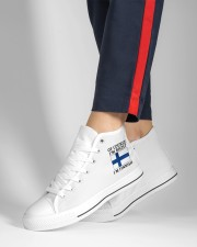 Finn Wants A Cabin Women's High Top White Shoes aos-complex-men-white-high-top-shoes-lifestyle-inside-left-outside-left-14