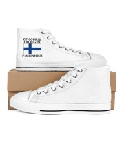 Finn Wants A Cabin Women's High Top White Shoes outside-right-inside-right