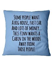 Finn Wants A Cabin Square Pillowcase thumbnail