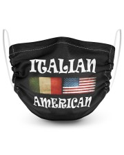 Italian American 2 2 Layer Face Mask - Single front