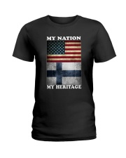 Finnish Nation Heritage Ladies T-Shirt thumbnail