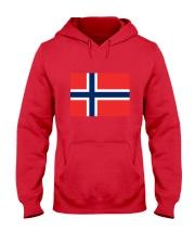 Norway Flag Hooded Sweatshirt thumbnail