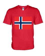 Norway Flag V-Neck T-Shirt thumbnail