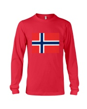 Norway Flag Long Sleeve Tee thumbnail