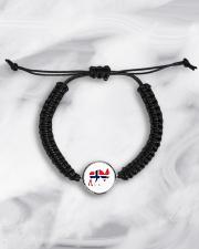 Norway Symbol Cord Circle Bracelet aos-bracelet-cord-front-lifestyle-5