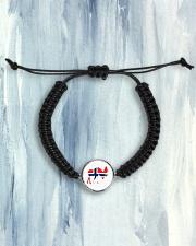 Norway Symbol Cord Circle Bracelet aos-bracelet-cord-front-lifestyle-6