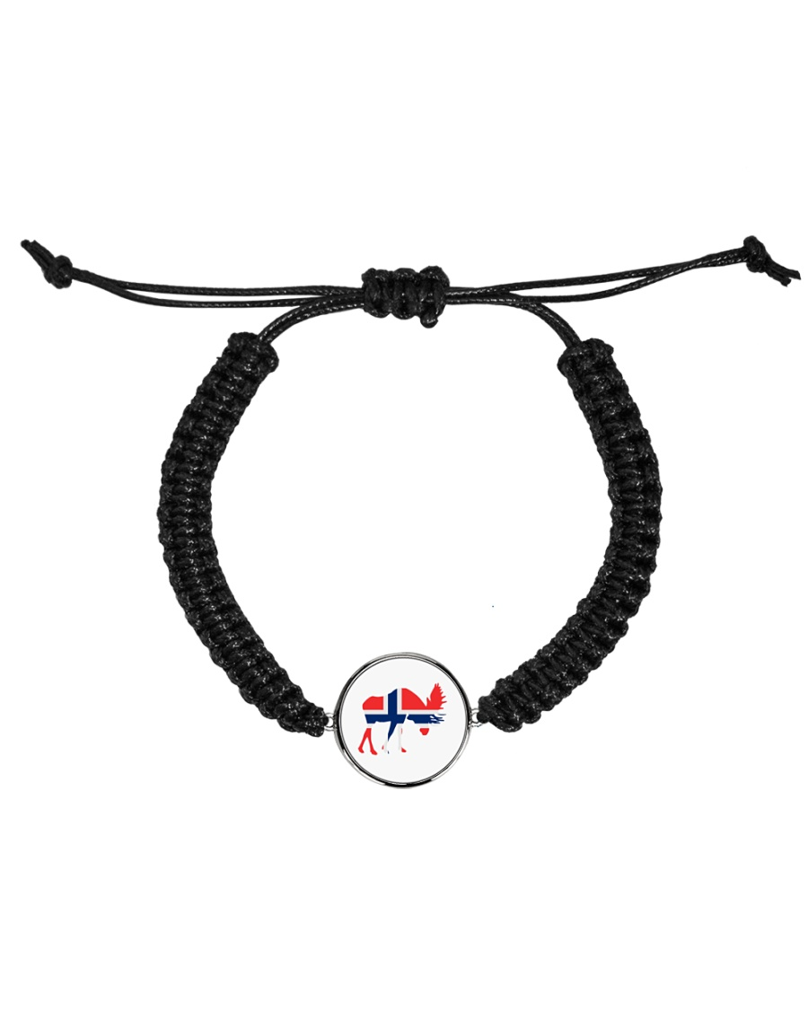 Norway Symbol Cord Circle Bracelet