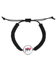 Norway Symbol Cord Circle Bracelet front