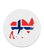 Norway Symbol Circle Coaster thumbnail