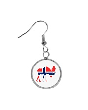 Norway Symbol Circle Earrings thumbnail