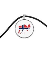 Norway Symbol Cord Circle Necklace thumbnail