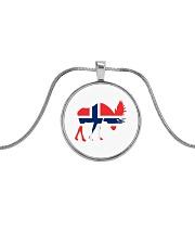 Norway Symbol Metallic Circle Necklace thumbnail