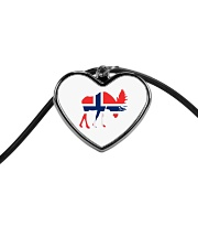Norway Symbol Cord Heart Necklace thumbnail