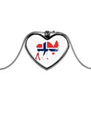 Norway Symbol Metallic Heart Necklace thumbnail