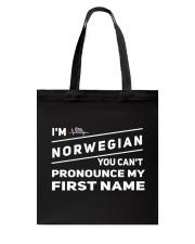 Norwegian Pronounce Tote Bag thumbnail