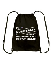 Norwegian Pronounce Drawstring Bag thumbnail