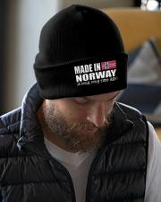 Norwegian Pronounce Knit Beanie garment-embroidery-beanie-lifestyle-06