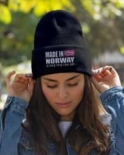 Norwegian Pronounce Knit Beanie garment-embroidery-beanie-lifestyle-07